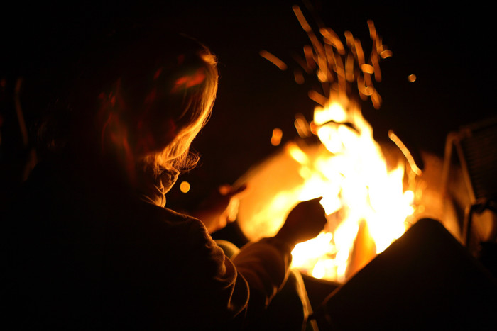 13. Enjoy a campfire or watch a log smolder in the fireplace