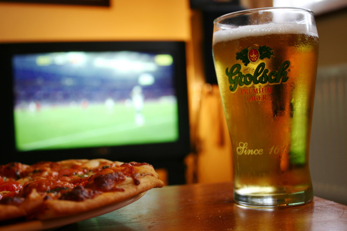 3) And pro football on TV every Sunday. With beer and pizza, of course.