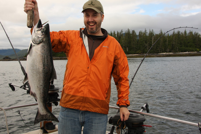 5) In Alaska you'll fish with the best of us.