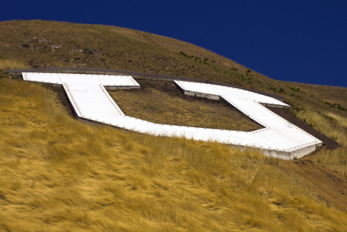 5. Our schools put their letters on the mountains.