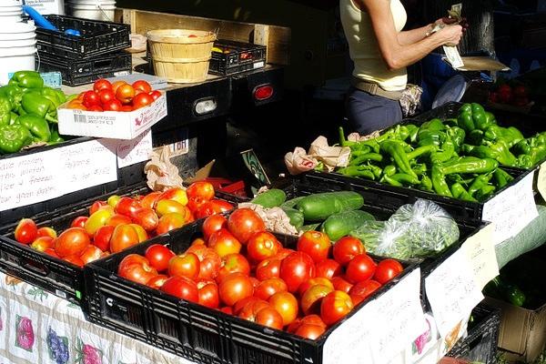 13. July: Visit a farmer's market.