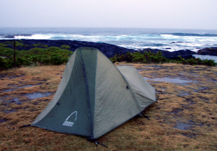 5) Go camping on the beach.