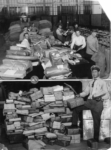 """1. """"Postal workers during Christmas in Denver, 1915."""""""