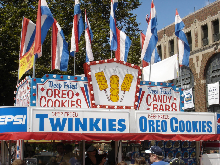 5. Is there anything at the state fair that you guys don't deep fry or serve on a stick?