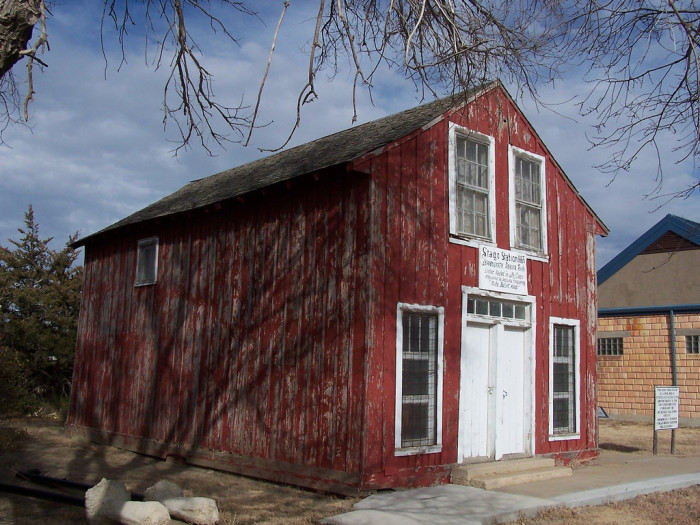 The historic Pond Creek Stage Station, a stagecoach station built in 1865, is believed to be the oldest man-made structure in northwest Kansas.