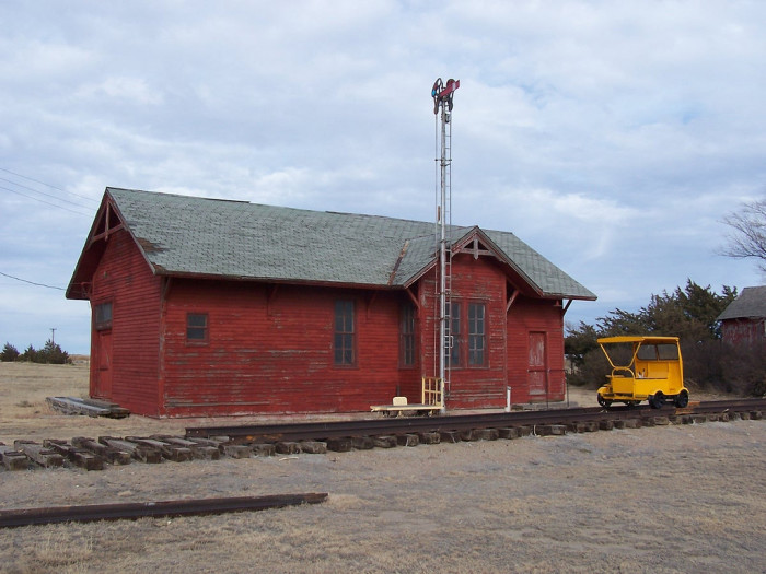 The abandoned Union Pacific Railroad Depot.