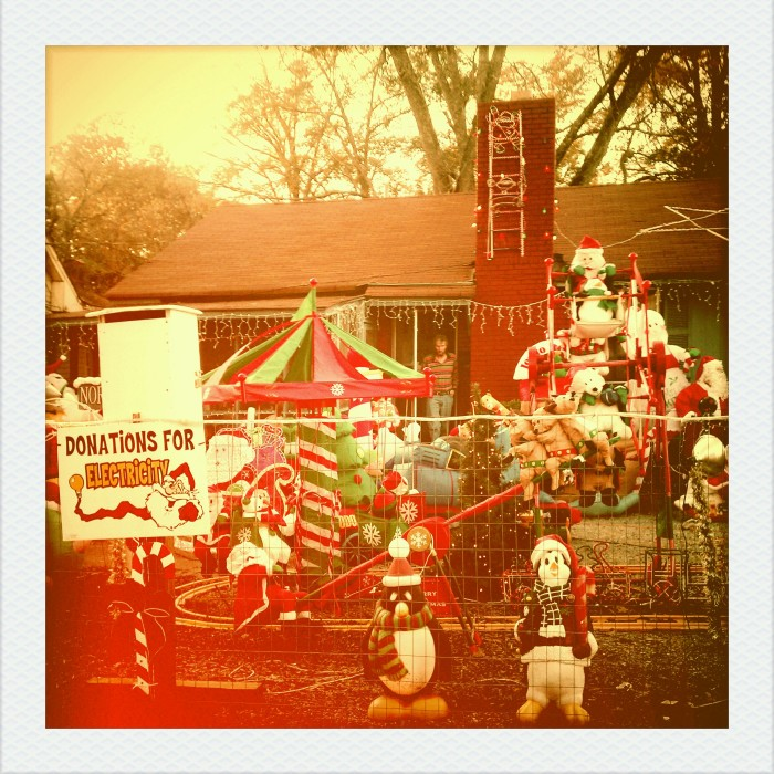 6. This vintage Christmas display, in Montgomery, definitely has a nostalgic feel to it.