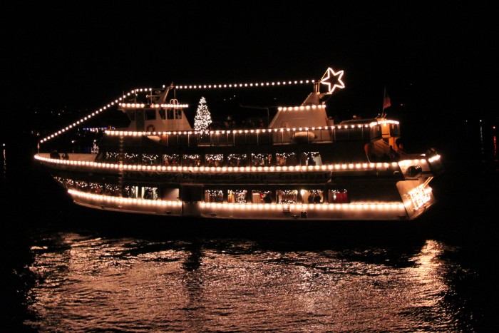 10. Head out for a trip across Puget Sound, via the Argosy Christmas Ship Cruise.