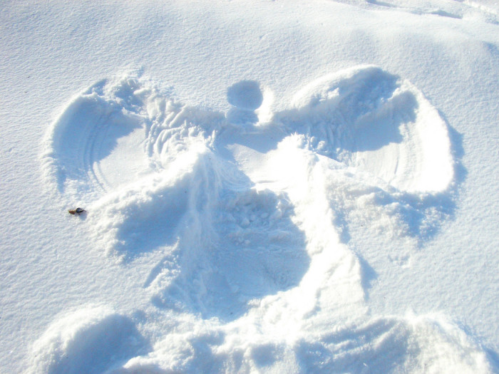 13. Snow angels.