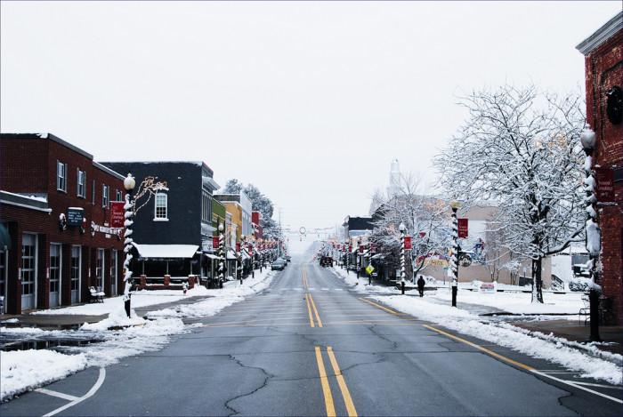 15. A quaint Main Street.