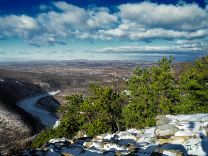16. The Delaware Water Gap seen from Mount Tammany.