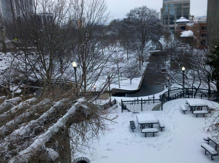 9. Huntsville's Big Spring Park, in January 2011, following a snow storm.