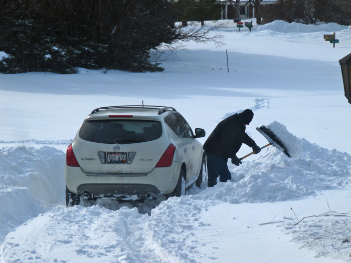 7. I should trade in my Prius for a snowplow. Or a dog sled.