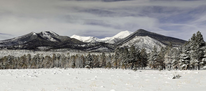 2. Here's a look at the Peaks seen from Sunset Crater a few years ago. Still a beautiful sight.