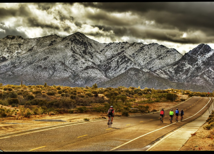 17. Even the Phoenix area gets graced with snow every once in awhile. This scene of the McDowell Mountains almost don't look like Scottsdale.