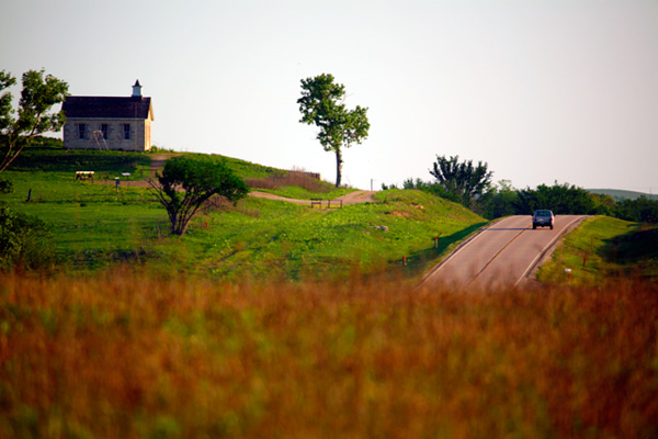 17. Driving the Flint Hills.