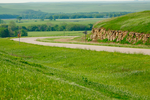 5. Driving the Flint Hills National Scenic Byway.