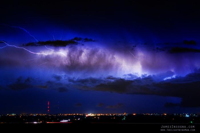 "7. ""Cloud to Cloud Lightning Bursting Out Boulder County Colorado."""