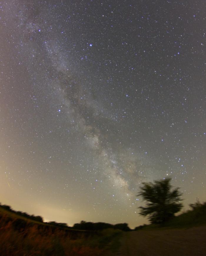 "4. ""Milky Way over farm road."""
