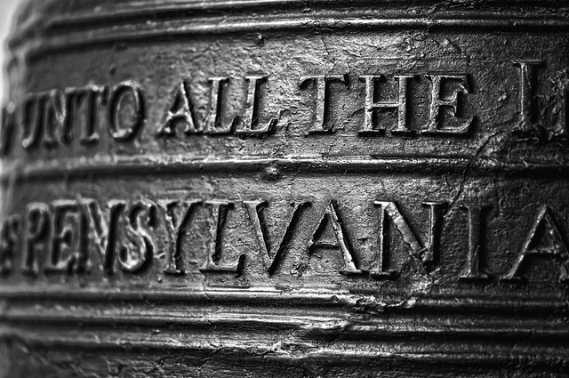 """7. Pennsylvania is spelled """"Pensylvania"""" on the Liberty Bell because it was created before its spelling was established."""
