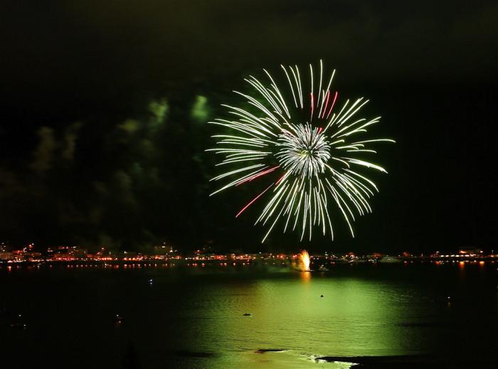 1) Fireworks display in Juneau
