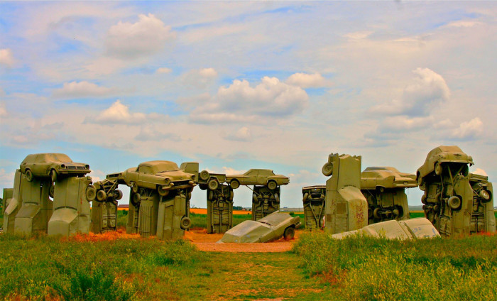 9. Quirky sights such as Carhenge in Alliance.
