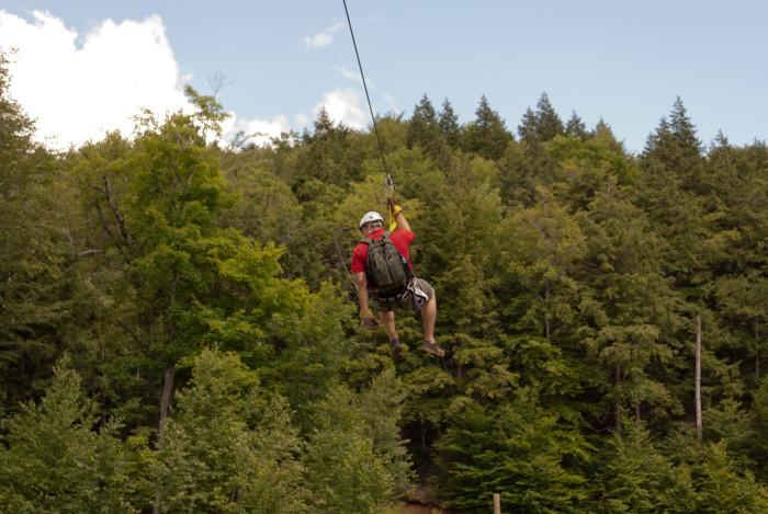 6. Zipline through the forest.