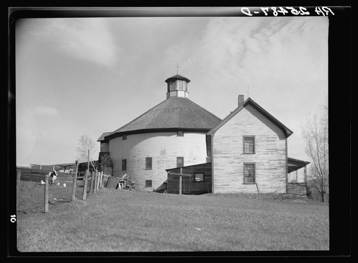 4.  Farm with round barn. Caledonia County, Vermont.