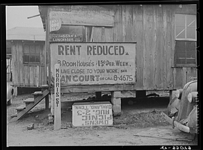 6) There's some December, 1940 rent issues in Memphis