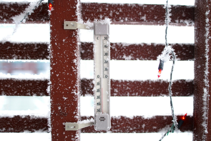 6.Outside thermometer that goes at least 40 below zero.