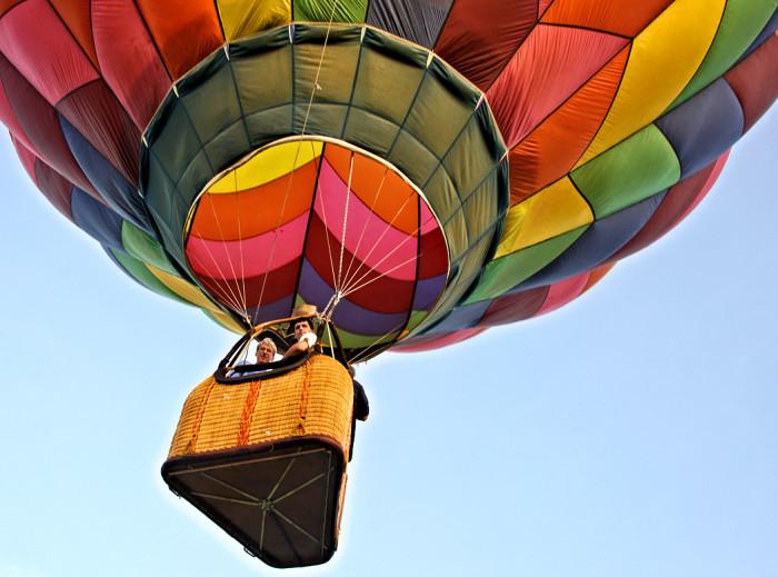 2. Take a hot air balloon ride across the MN prairie.