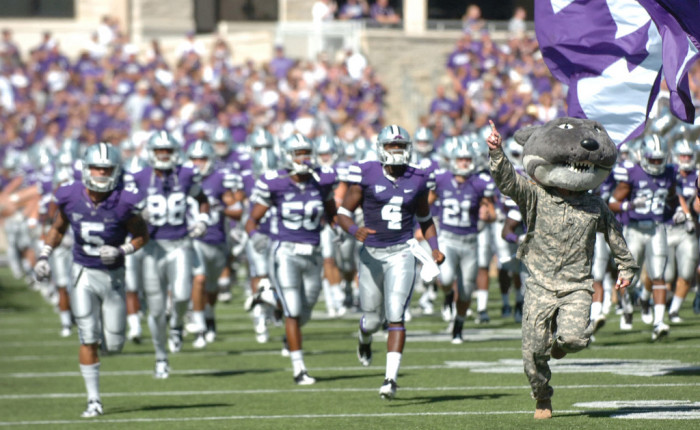 1. A championship for K-State football and either KU or Wichita State basketball.