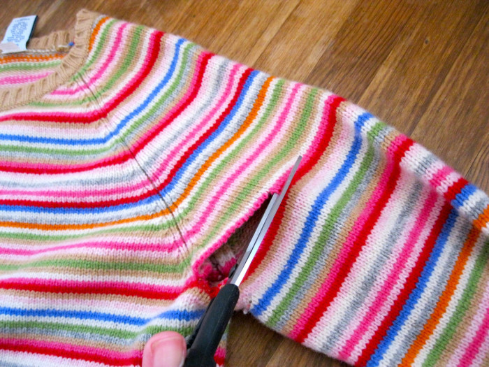 1. Make leg warmers out of old sweaters.