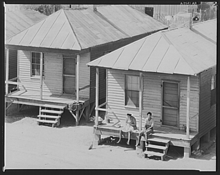 6. Taken in Vicksburg, this picture shows the living quarters afforded to African Americans.