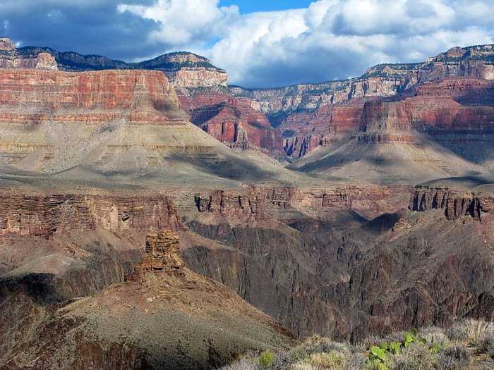 10. Long Tom's gold sits behind a waterfall in the Grand Canyon.