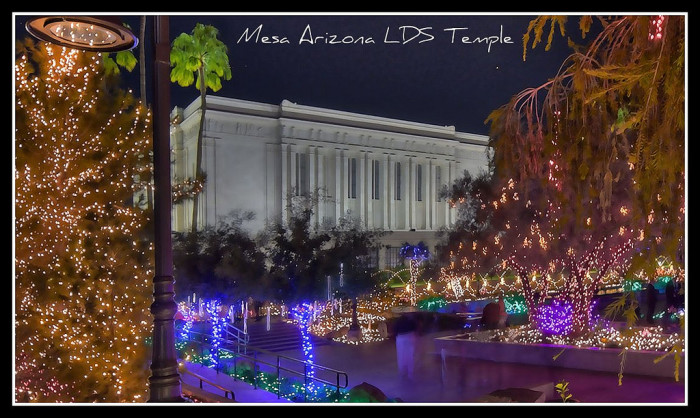 5. Temple Gardens Christmas Lights (Mormon Temple, Mesa)