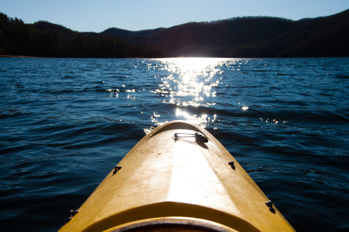 3. Get lost on a kayak or canoe.