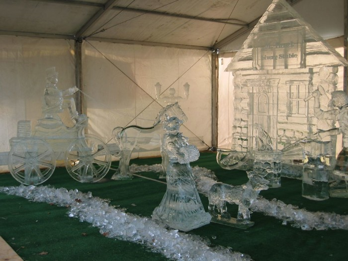 10. Some skillful human-crafted ice sculptures are pretty...