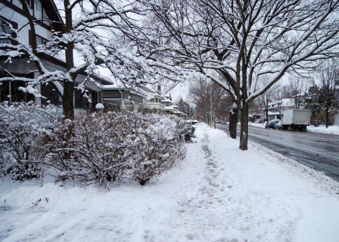 8. You are the one neighbor on the street who always fails to shovel his walk.