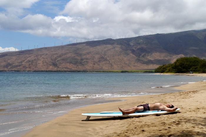 7) Lay on the beach.
