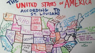7.  The U.S. According to St. Louisians