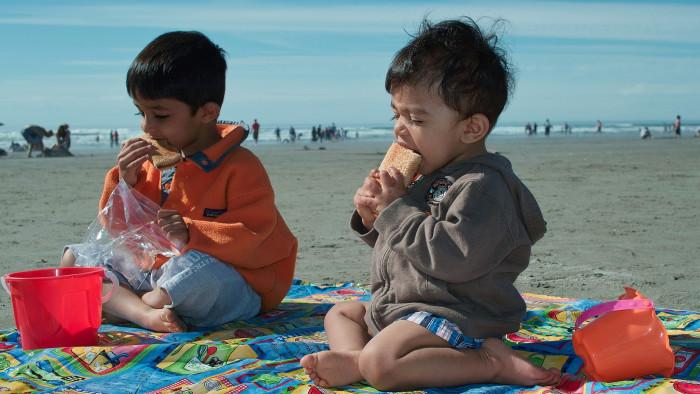 5. Had a picnic on the beach.