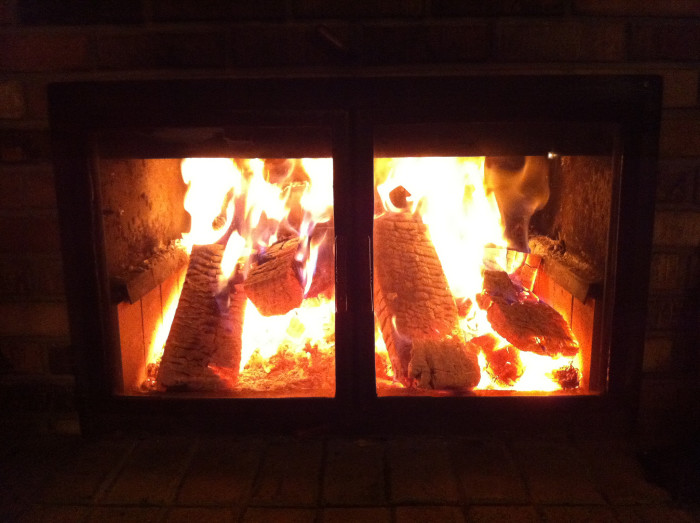 5. Curl up by the fire inside.