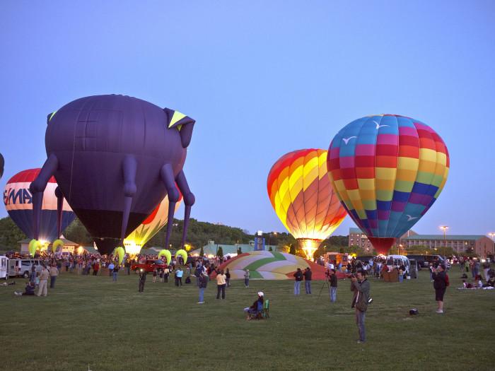 10) Ride in a hot air balloon.
