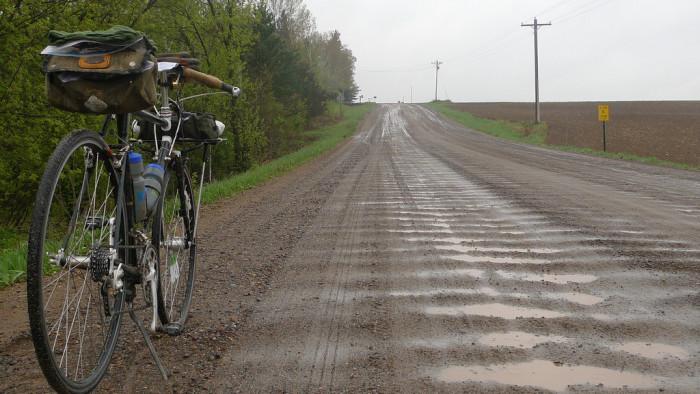 7. Or driving on wet gravel.