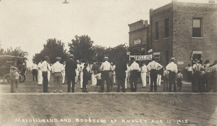 10. The Huxley-Maxwell Band Boosters Parade on August 10, 1915.