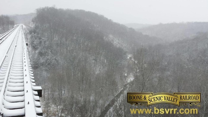 6. The view of the Des Moines River Valley from the Boone & Scenic Valley Railway is absolutely enchanting during the winter season.