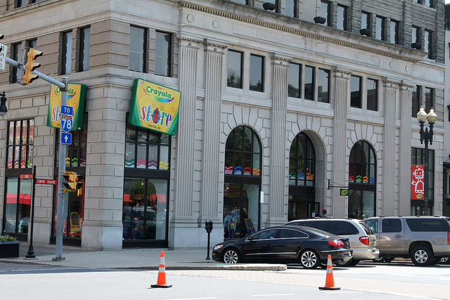 5. If you have kids, take them to the Crayola Factory in Easton.
