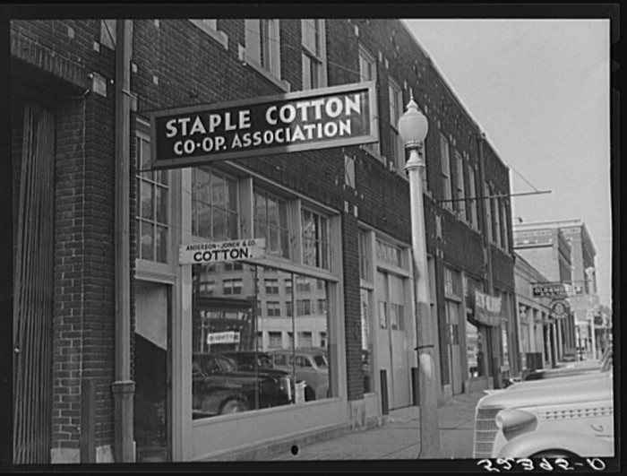 7. Located in Leland, Staple Cotton Co-op Association is one of many businesses that aided farmers in selling and distributing their yield of cotton.