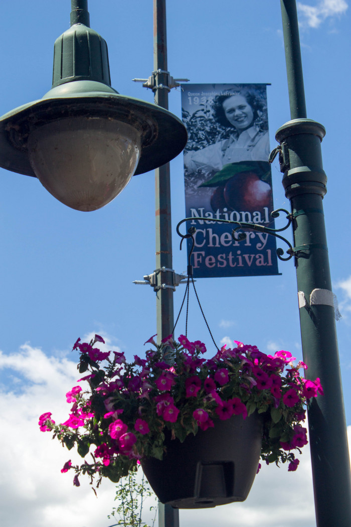 4) Check out the National Cherry Festival.